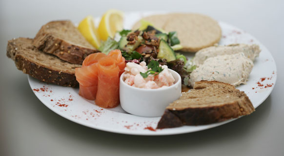 Photograph of food served at St Giles' Cathedral Café
