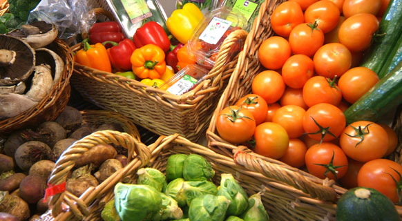 Photograph of some of our lovely fresh fruit and vegetables at Fenton Barns Farm Shop